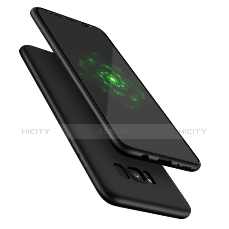 Silikon Hülle Handyhülle Ultra Dünn Schutzhülle S09 für Samsung Galaxy S8 Schwarz Plus