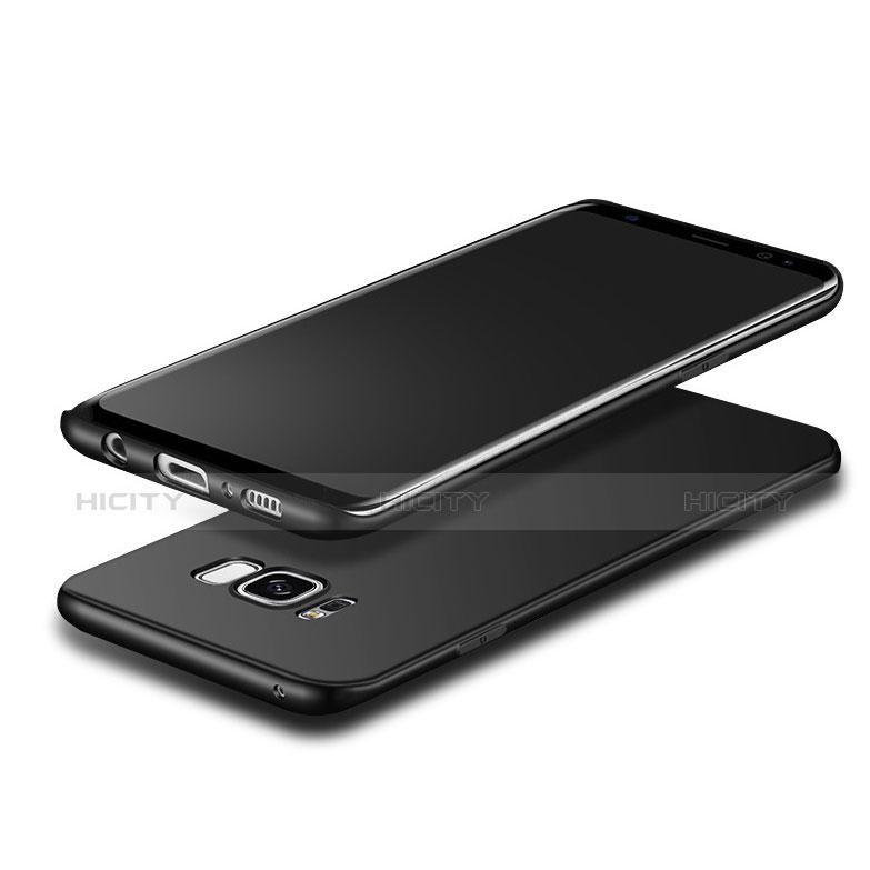 Silikon Hülle Handyhülle Ultra Dünn Schutzhülle S09 für Samsung Galaxy S8 Schwarz groß