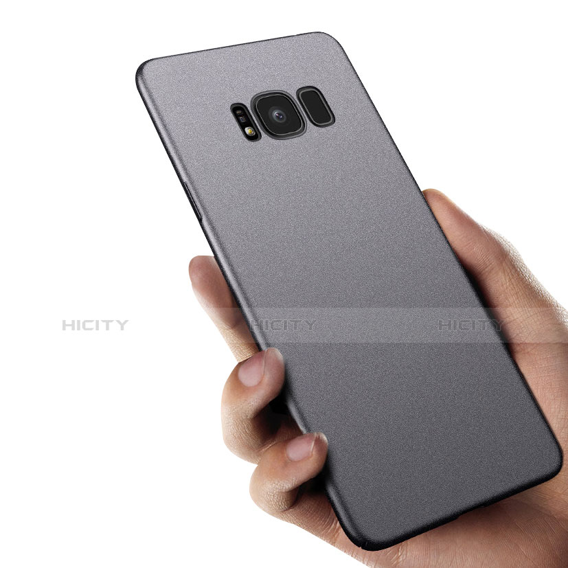 Silikon Hülle Handyhülle Ultra Dünn Schutzhülle S10 für Samsung Galaxy S8 Schwarz groß
