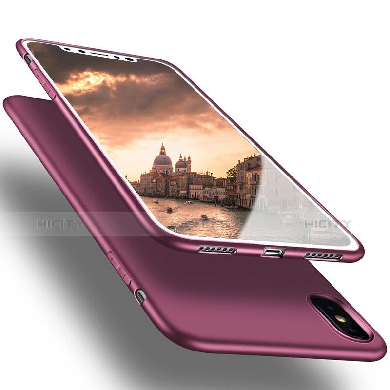 Silikon Hülle Handyhülle Ultra Dünn Schutzhülle S16 für Apple iPhone Xs Max Violett Plus
