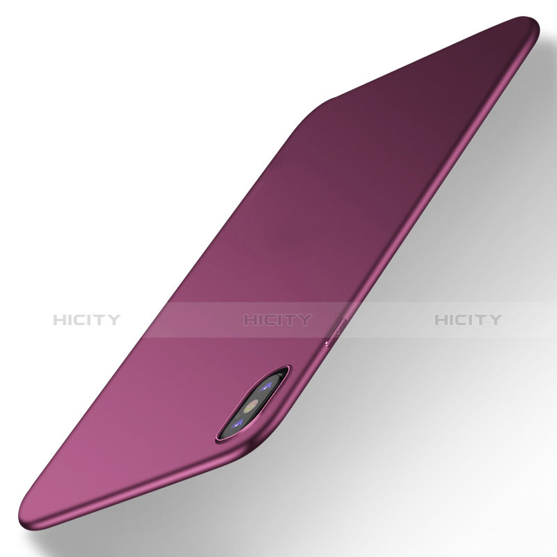 Silikon Hülle Handyhülle Ultra Dünn Schutzhülle S16 für Apple iPhone Xs Max Violett groß