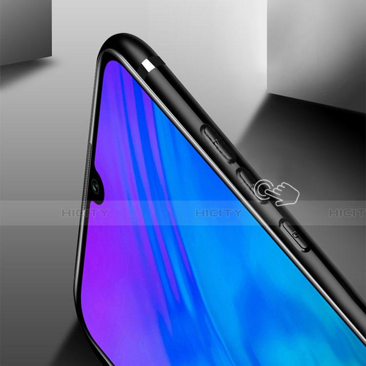 Silikon Hülle Handyhülle Ultra Dünn Schutzhülle Silikon mit Magnetisch Fingerring Ständer für Huawei Honor 20 Lite Schwarz groß