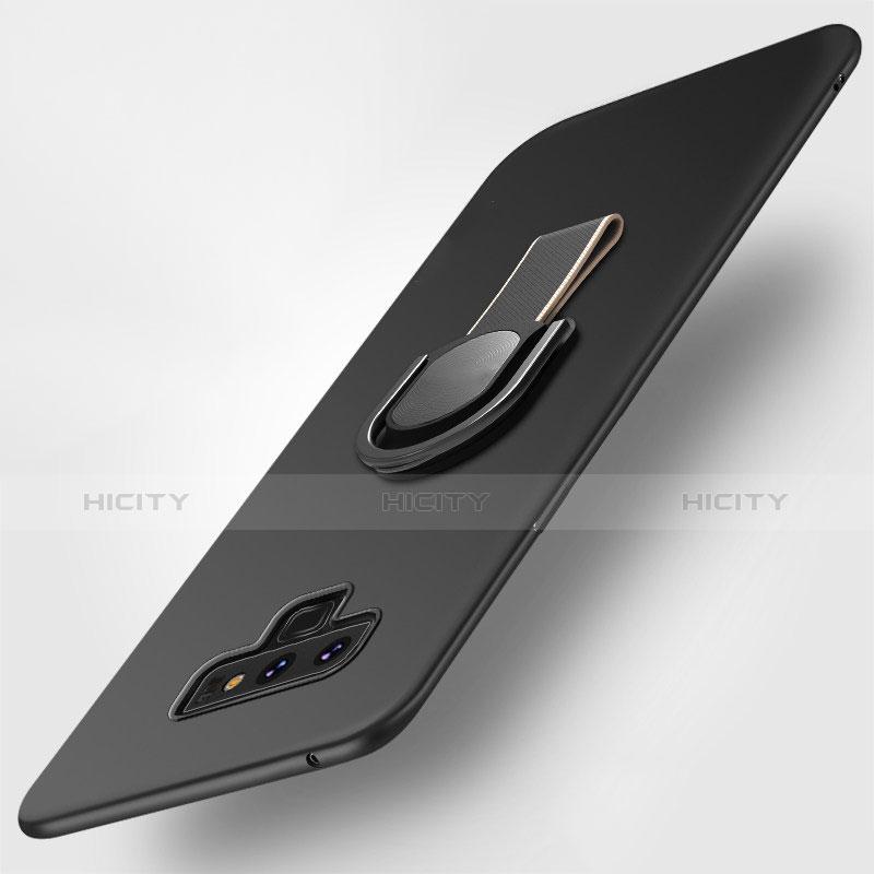 Silikon Hülle Handyhülle Ultra Dünn Schutzhülle Silikon mit Magnetisch Fingerring Ständer für Samsung Galaxy Note 9 Schwarz Plus