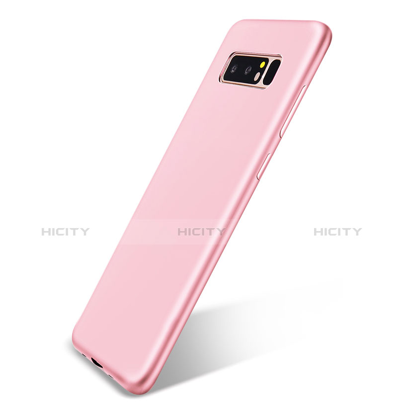 Silikon Hülle Handyhülle Ultra Dünn Schutzhülle Tasche S05 für Samsung Galaxy Note 8 Duos N950F Rosa Plus