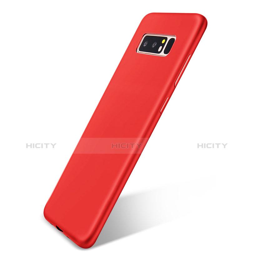 Silikon Hülle Handyhülle Ultra Dünn Schutzhülle Tasche S05 für Samsung Galaxy Note 8 Duos N950F Rot Plus