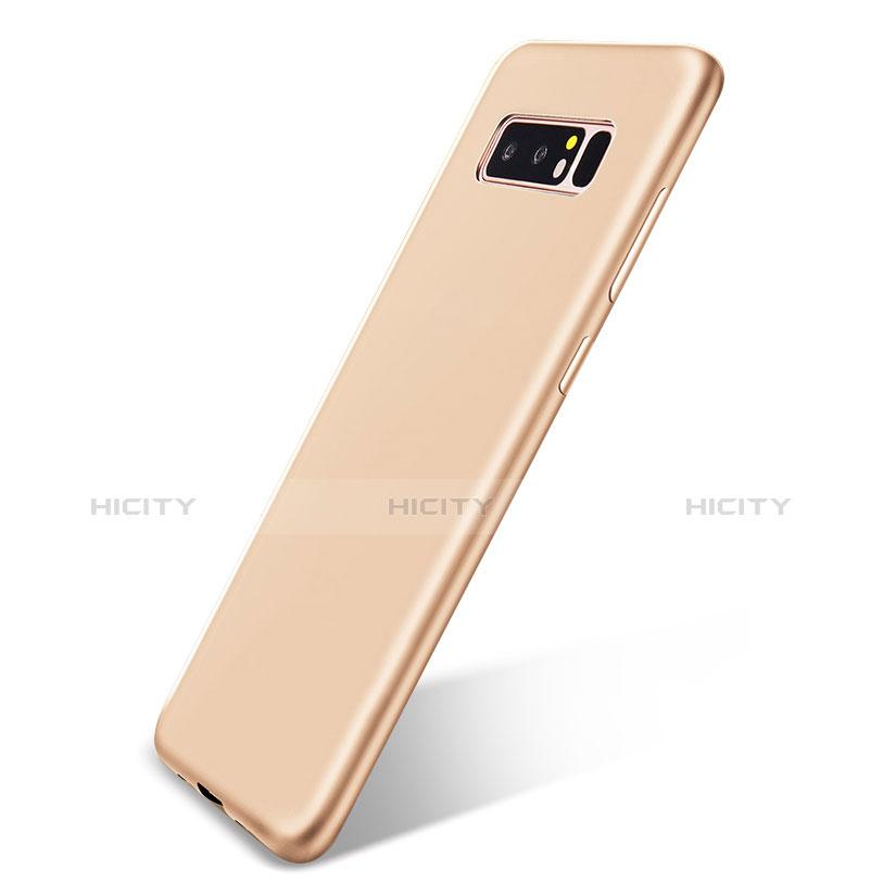 Silikon Hülle Handyhülle Ultra Dünn Schutzhülle Tasche S05 für Samsung Galaxy Note 8 Gold Plus