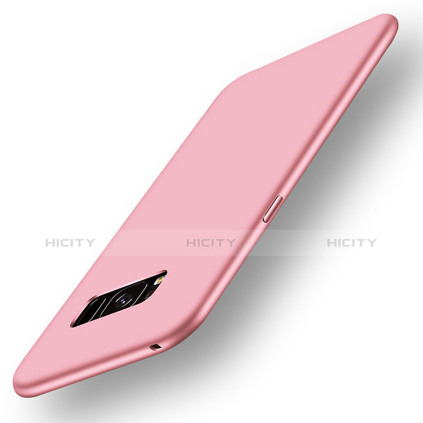 Silikon Hülle Handyhülle Ultra Dünn Schutzhülle Tasche S05 für Samsung Galaxy S8 Plus Rosa Plus