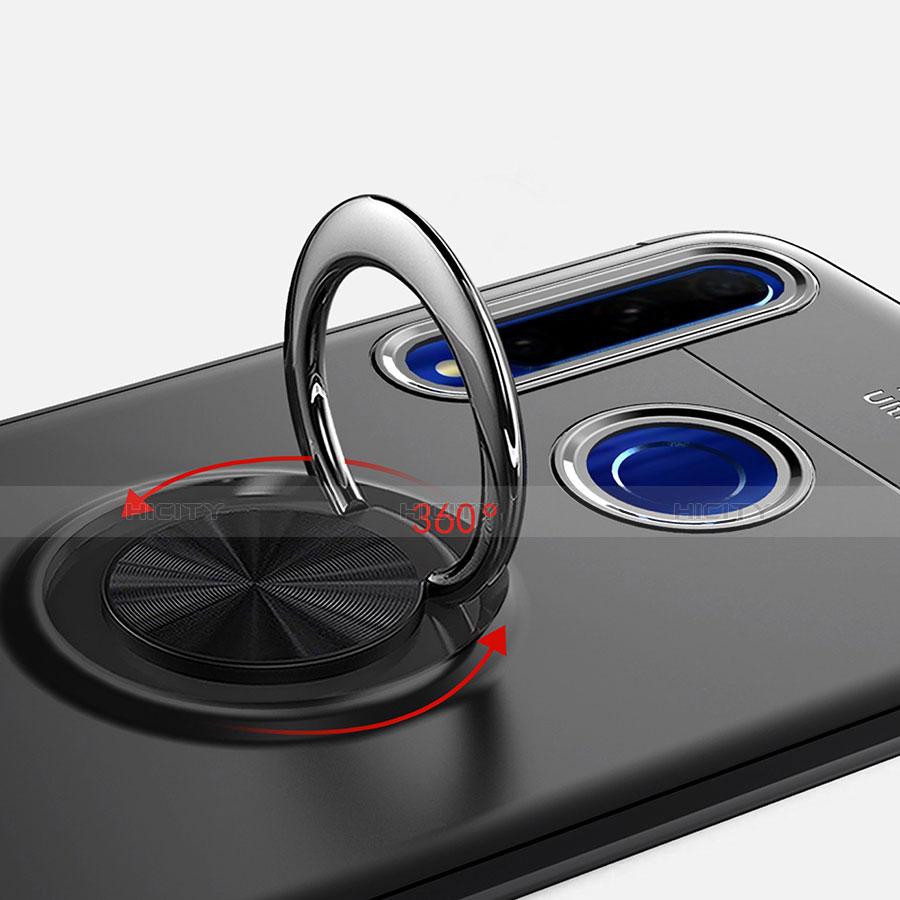 Silikon Hülle Handyhülle Ultra Dünn Schutzhülle Tasche Silikon mit Magnetisch Fingerring Ständer A01 für Huawei Honor 20 Lite groß