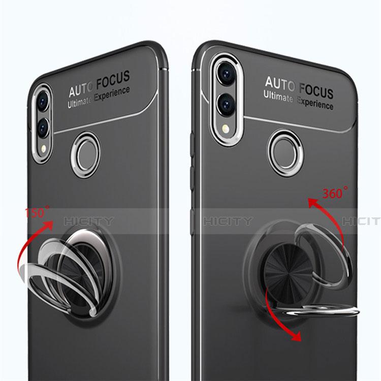Silikon Hülle Handyhülle Ultra Dünn Schutzhülle Tasche Silikon mit Magnetisch Fingerring Ständer A01 für Huawei Honor 8X groß