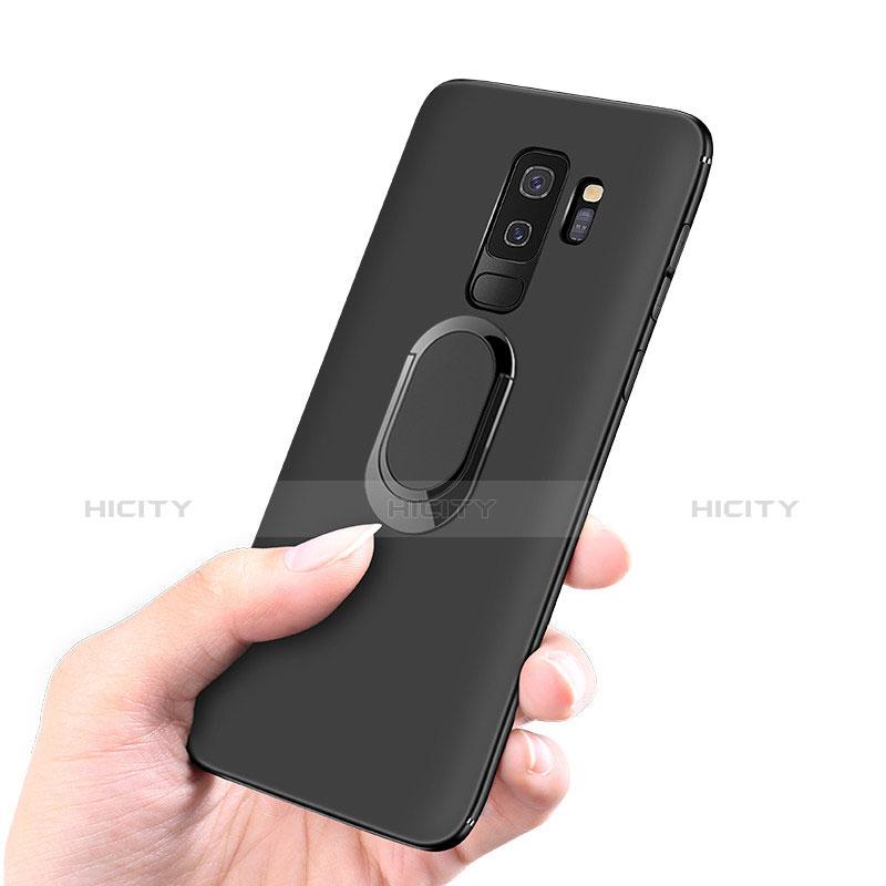 Silikon Hülle Handyhülle Ultra Dünn Schutzhülle Tasche Silikon mit Magnetisch Fingerring Ständer für Samsung Galaxy S9 Plus groß