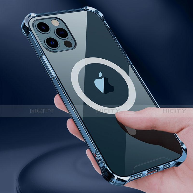 Silikon Hülle Handyhülle Ultradünn Tasche mit Mag-Safe Magnetic Magnetisch Durchsichtig Transparent für Apple iPhone 12 Pro Max Klar Plus