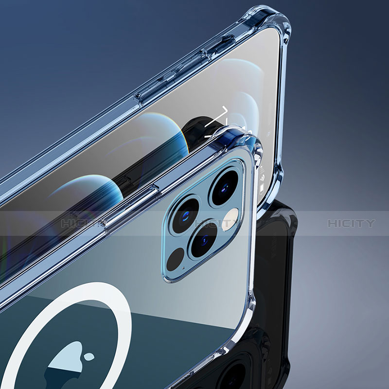 Silikon Hülle Handyhülle Ultradünn Tasche mit Mag-Safe Magnetic Magnetisch Durchsichtig Transparent für Apple iPhone 12 Pro Max Klar groß