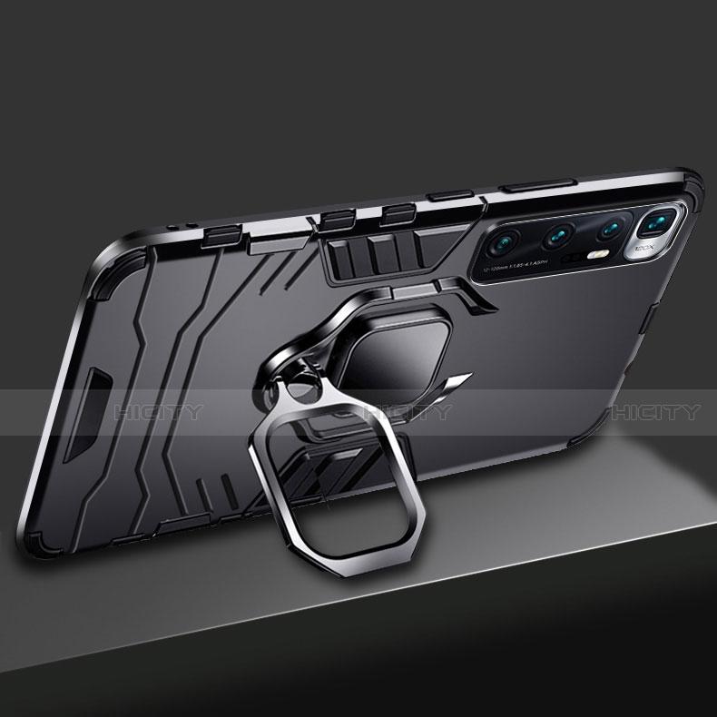 Silikon Hülle Handyhülle und Kunststoff Schutzhülle Hartschalen Tasche mit Magnetisch Fingerring Ständer S01 für Xiaomi Mi 10 Ultra groß