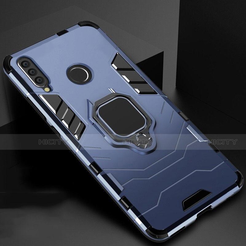 Silikon Hülle Handyhülle und Kunststoff Schutzhülle Tasche mit Magnetisch Ständer für Huawei Honor 20 Lite Blau Plus