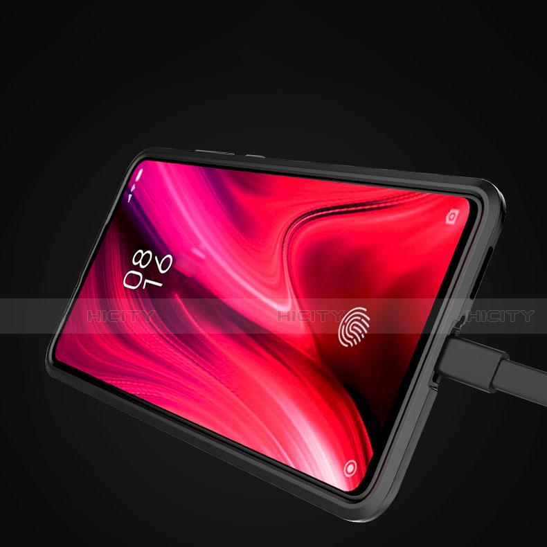 Silikon Hülle Handyhülle und Kunststoff Schutzhülle Tasche mit Magnetisch Ständer für Xiaomi Mi 9T groß