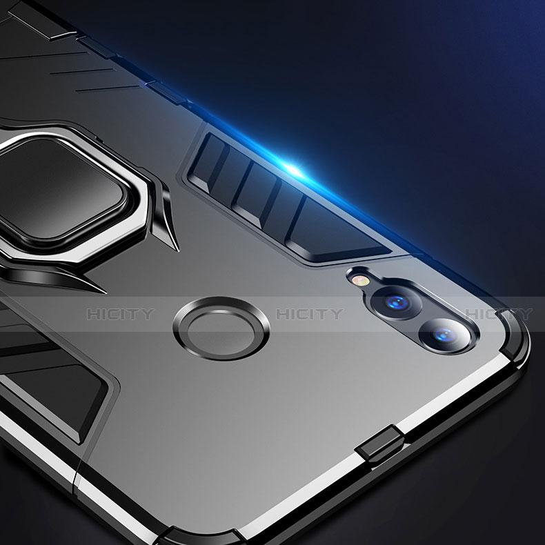 Silikon Hülle Handyhülle und Kunststoff Schutzhülle Tasche mit Ständer für Huawei Honor 8X groß