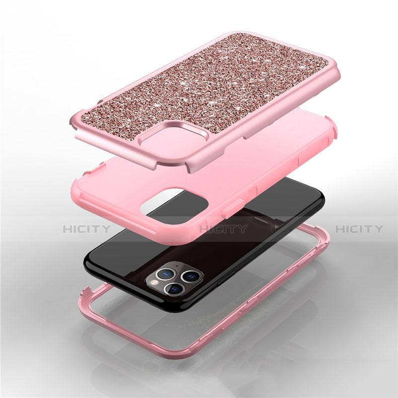 Silikon Hülle Handyhülle und Kunststoff Schutzhülle Tasche Vorder und Rückseite 360 Grad Bling-Bling für Apple iPhone 11 Pro Max groß