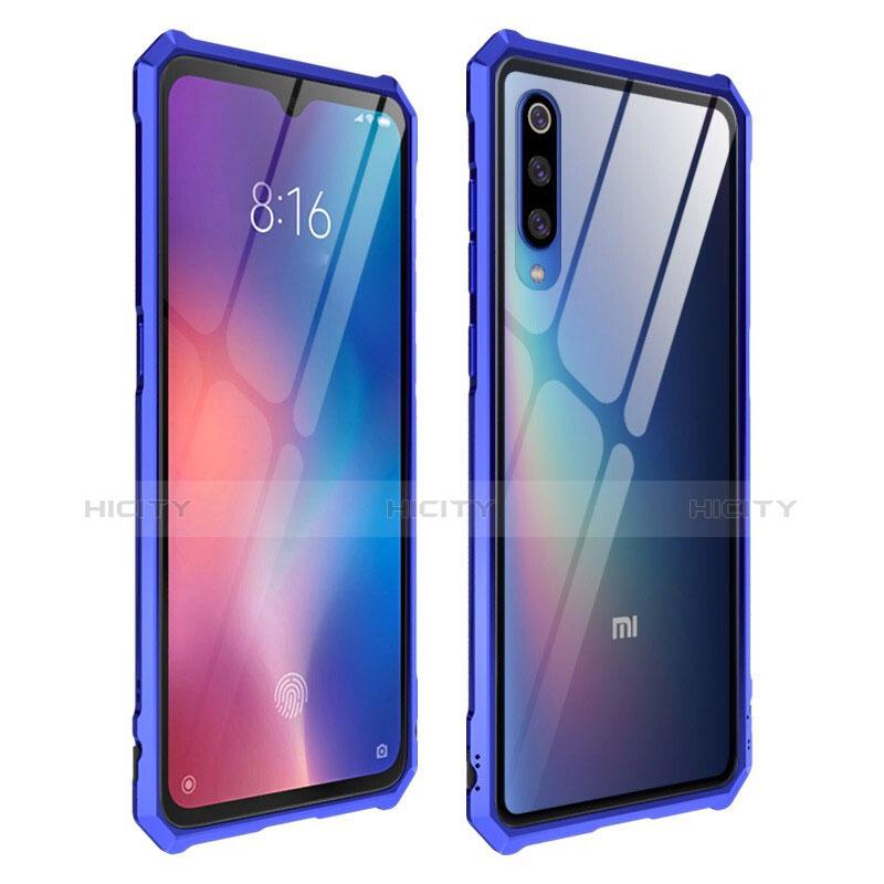 Silikon Schutzhülle Rahmen Tasche Hülle Durchsichtig Transparent Spiegel für Xiaomi Mi 9 Blau Plus