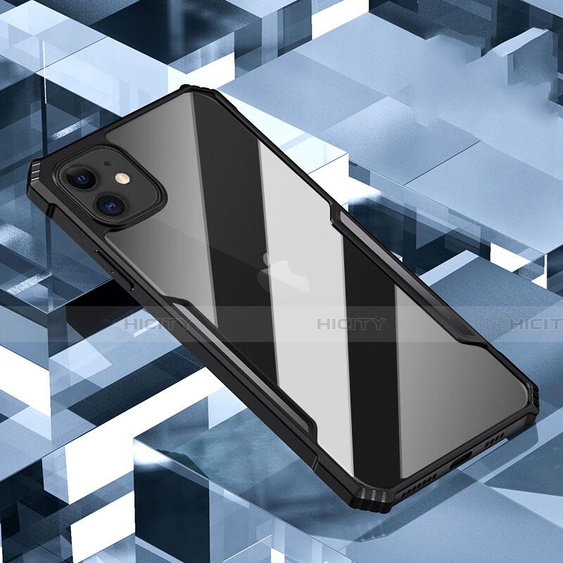 Silikon Schutzhülle Rahmen Tasche Hülle Durchsichtig Transparent Spiegel H01 für Apple iPhone 11 Schwarz Plus
