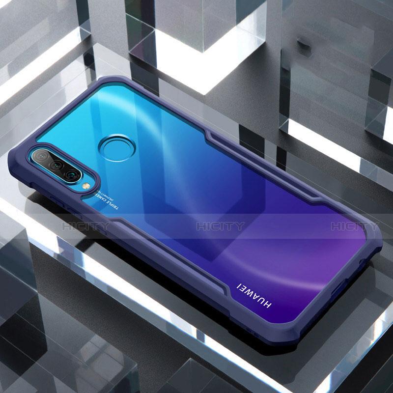 Silikon Schutzhülle Rahmen Tasche Hülle Durchsichtig Transparent Spiegel H01 für Huawei P30 Lite groß