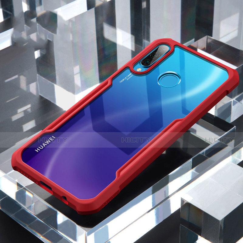 Silikon Schutzhülle Rahmen Tasche Hülle Durchsichtig Transparent Spiegel H01 für Huawei P30 Lite Rot Plus