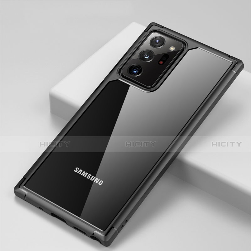 Silikon Schutzhülle Rahmen Tasche Hülle Durchsichtig Transparent Spiegel H02 für Samsung Galaxy Note 20 Ultra 5G groß