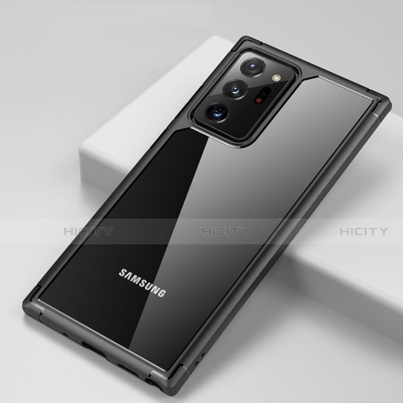 Silikon Schutzhülle Rahmen Tasche Hülle Durchsichtig Transparent Spiegel H02 für Samsung Galaxy Note 20 Ultra 5G Schwarz Plus