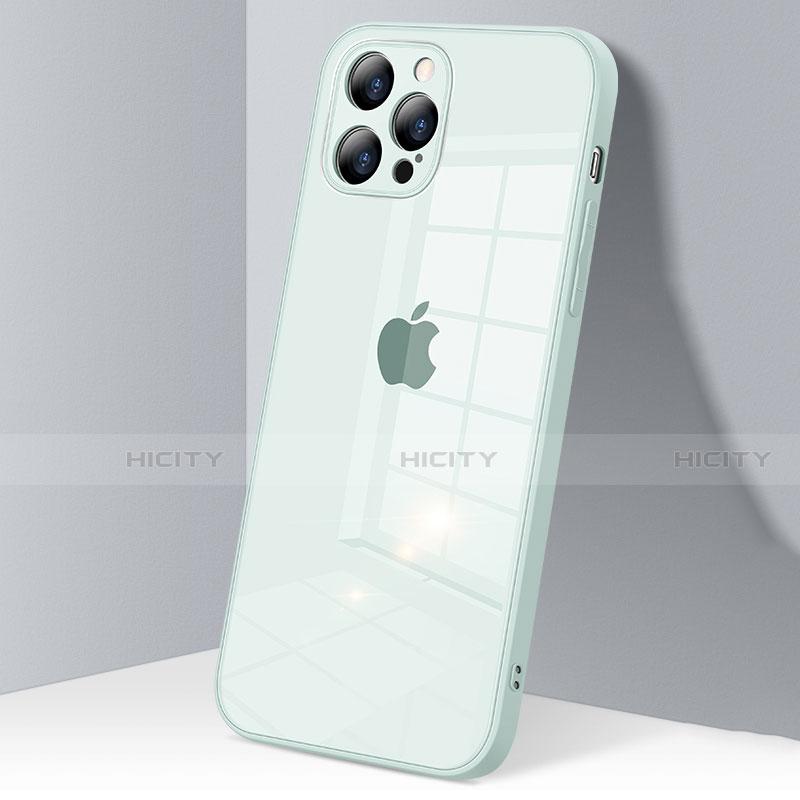 Silikon Schutzhülle Rahmen Tasche Hülle Durchsichtig Transparent Spiegel H06 für Apple iPhone 12 Pro Max groß