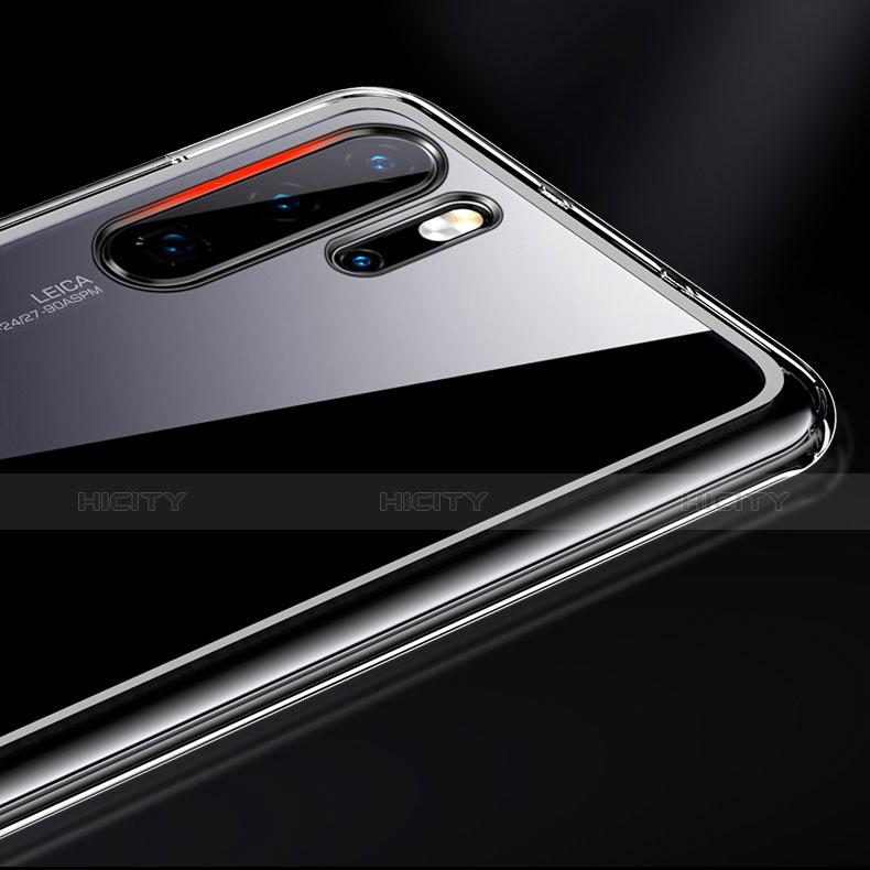 Silikon Schutzhülle Rahmen Tasche Hülle Durchsichtig Transparent Spiegel M02 für Huawei P30 Pro groß