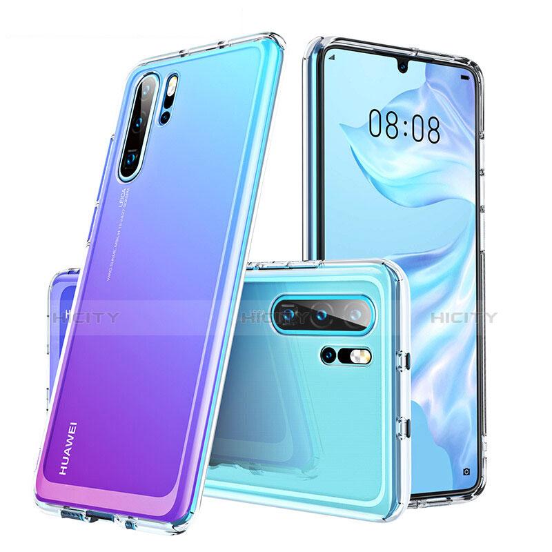 Silikon Schutzhülle Rahmen Tasche Hülle Durchsichtig Transparent Spiegel M02 für Huawei P30 Pro Klar Plus