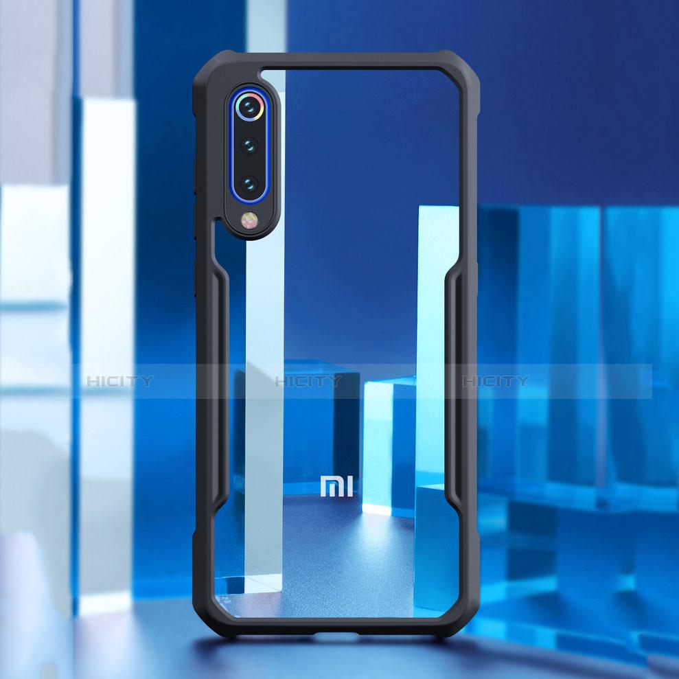 Silikon Schutzhülle Rahmen Tasche Hülle Durchsichtig Transparent Spiegel M02 für Xiaomi Mi 9 SE groß