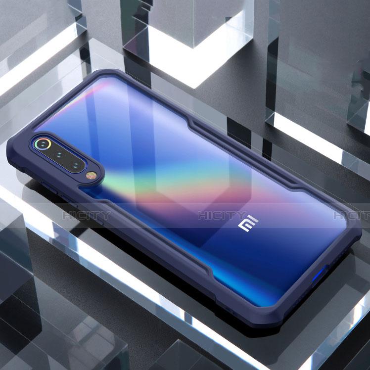 Silikon Schutzhülle Rahmen Tasche Hülle Durchsichtig Transparent Spiegel M02 für Xiaomi Mi 9 SE Blau Plus