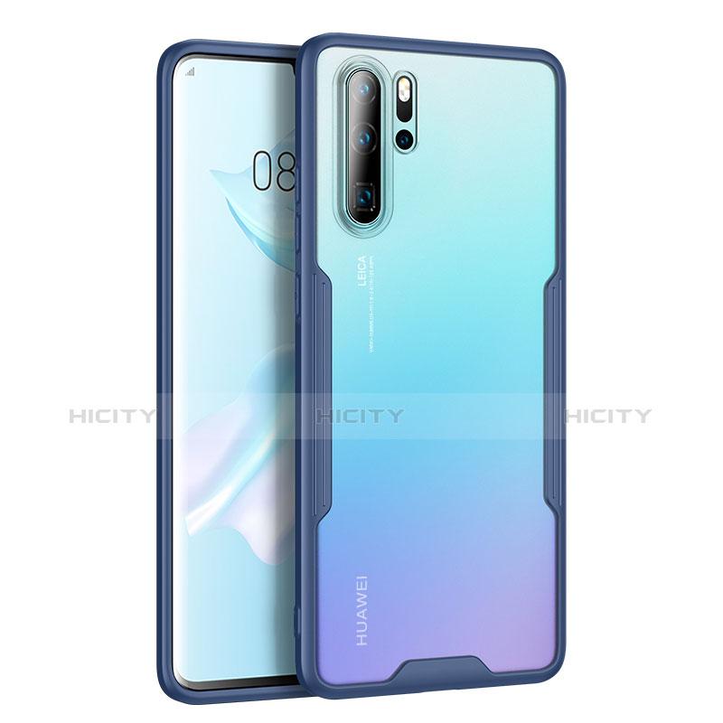 Silikon Schutzhülle Rahmen Tasche Hülle Durchsichtig Transparent Spiegel M03 für Huawei P30 Pro Blau Plus