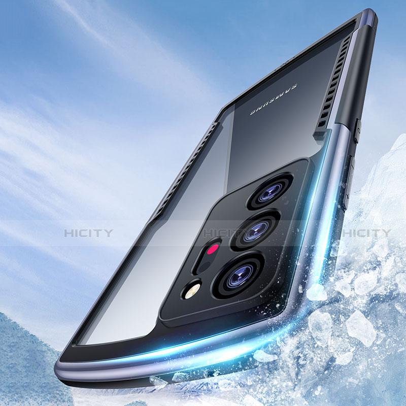 Silikon Schutzhülle Rahmen Tasche Hülle Durchsichtig Transparent Spiegel M04 für Samsung Galaxy Note 20 Ultra 5G groß