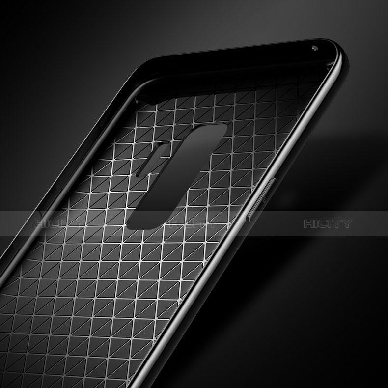 Silikon Schutzhülle Rahmen Tasche Hülle Durchsichtig Transparent Spiegel S01 für Samsung Galaxy S9 Plus groß