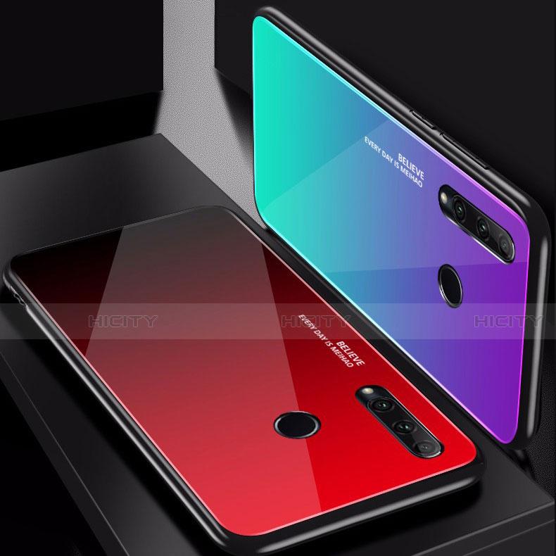 Silikon Schutzhülle Rahmen Tasche Hülle Spiegel Farbverlauf Regenbogen für Huawei Honor 20 Lite groß