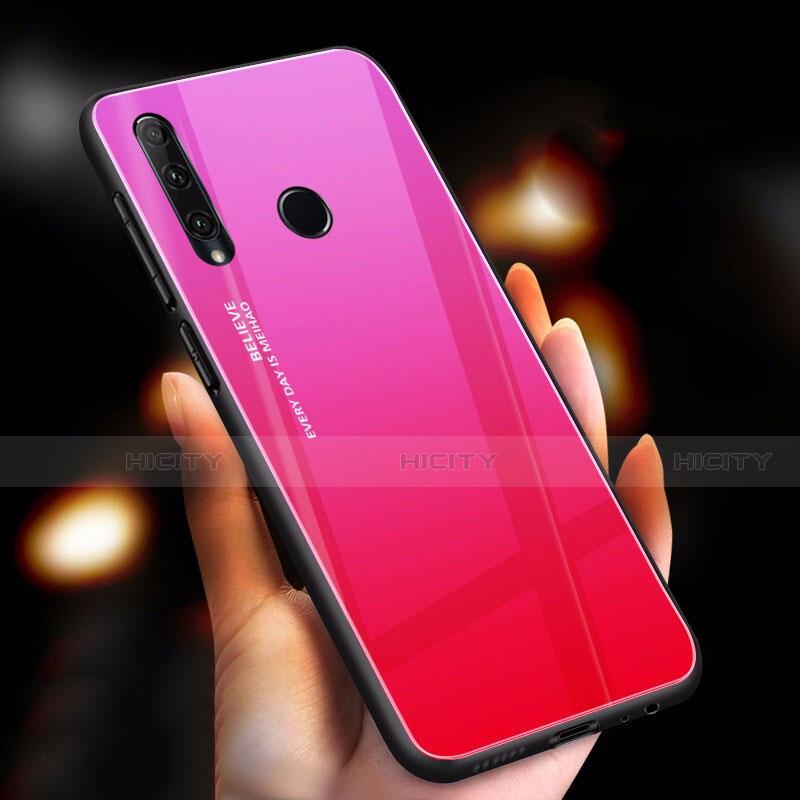 Silikon Schutzhülle Rahmen Tasche Hülle Spiegel Farbverlauf Regenbogen für Huawei Honor 20 Lite Pink Plus
