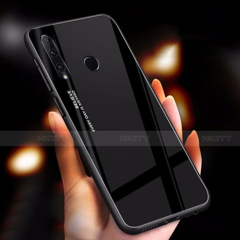 Silikon Schutzhülle Rahmen Tasche Hülle Spiegel Farbverlauf Regenbogen für Huawei Honor 20 Lite Schwarz Plus