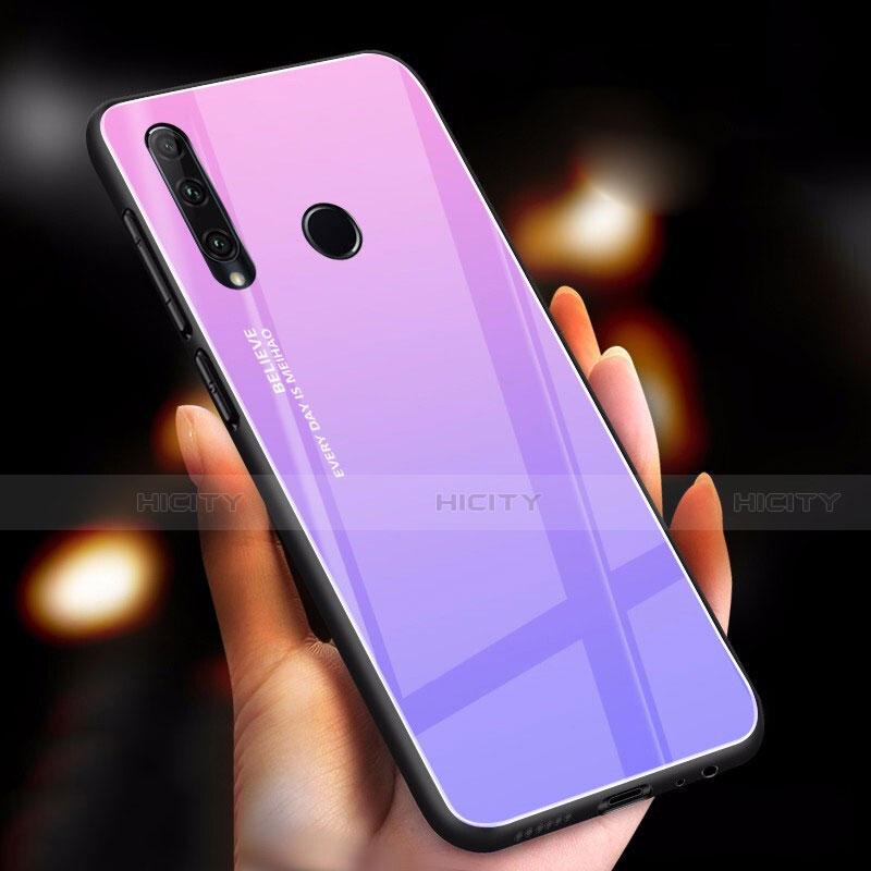 Silikon Schutzhülle Rahmen Tasche Hülle Spiegel Farbverlauf Regenbogen für Huawei Honor 20 Lite Violett Plus