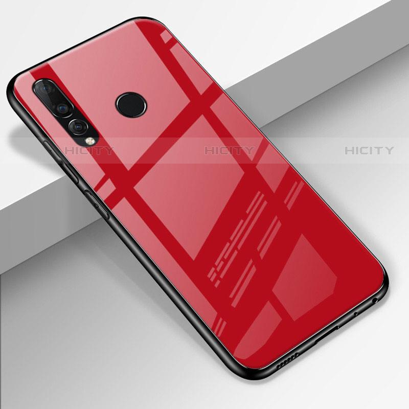 Silikon Schutzhülle Rahmen Tasche Hülle Spiegel für Huawei Honor 20 Lite Rot Plus