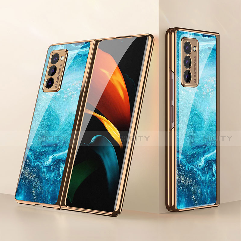 Silikon Schutzhülle Rahmen Tasche Hülle Spiegel für Samsung Galaxy Z Fold2 5G groß