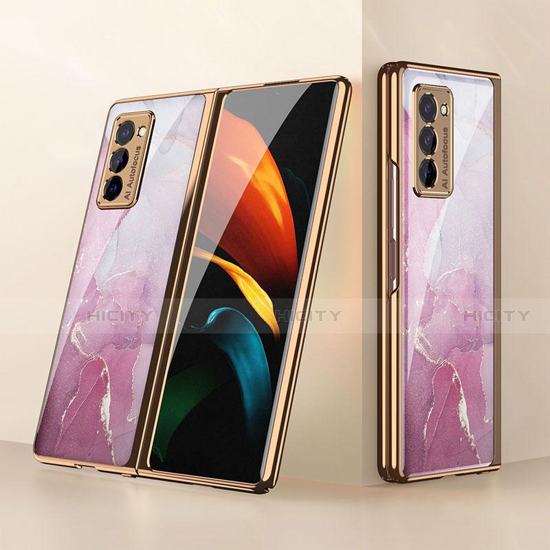 Silikon Schutzhülle Rahmen Tasche Hülle Spiegel für Samsung Galaxy Z Fold2 5G Rosa Plus