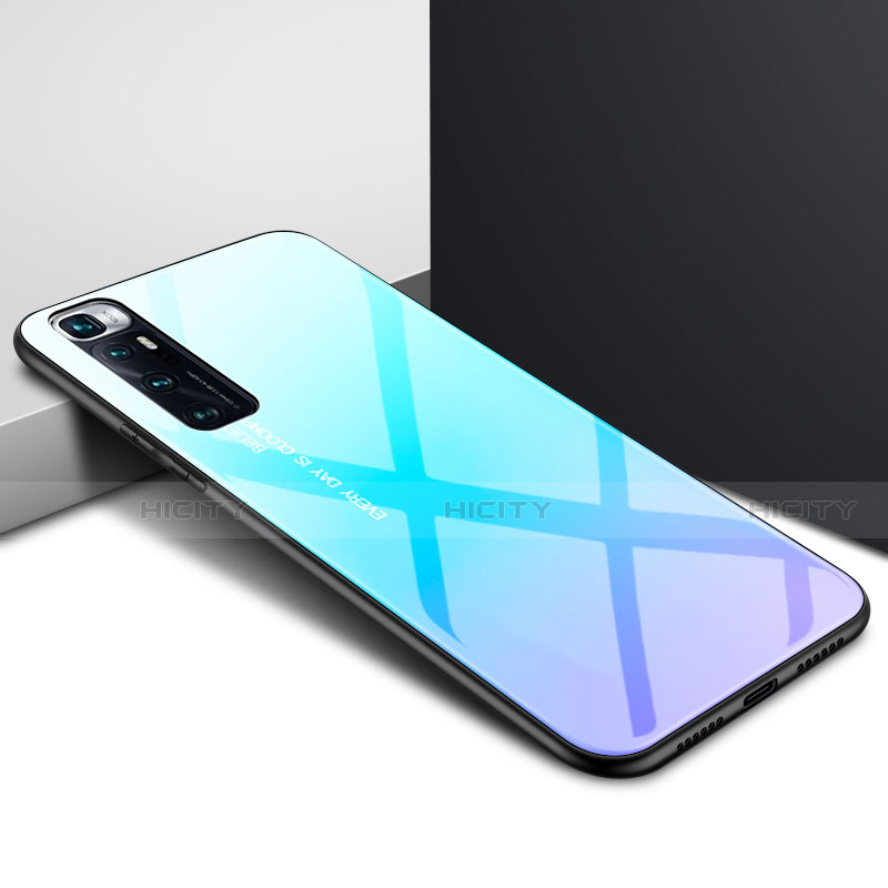 Silikon Schutzhülle Rahmen Tasche Hülle Spiegel für Xiaomi Mi 10 Ultra Hellblau Plus