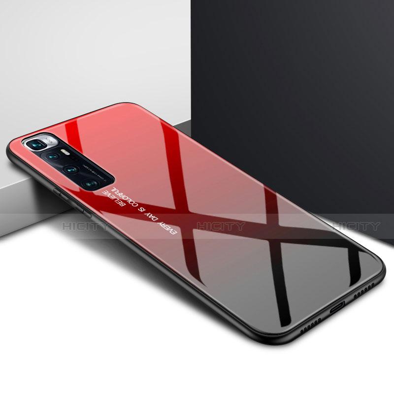 Silikon Schutzhülle Rahmen Tasche Hülle Spiegel für Xiaomi Mi 10 Ultra Rot Plus