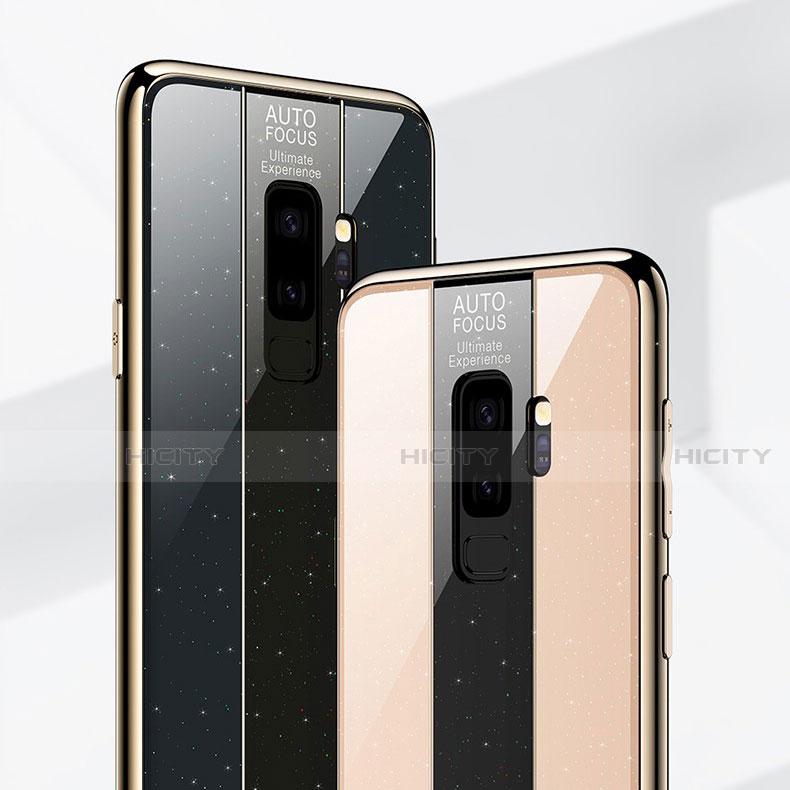 Silikon Schutzhülle Rahmen Tasche Hülle Spiegel M02 für Samsung Galaxy S9 Plus groß