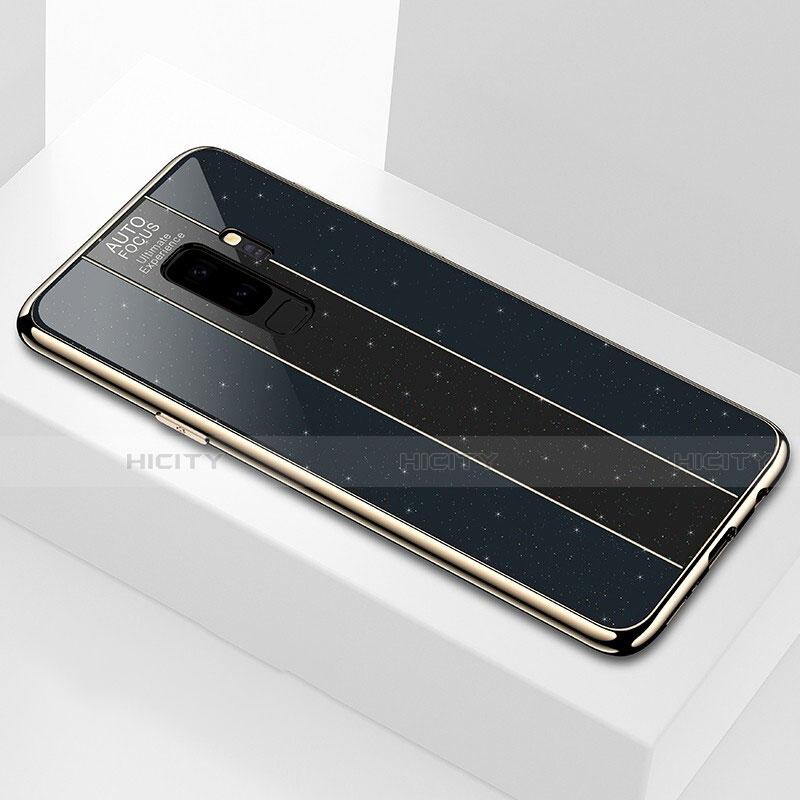 Silikon Schutzhülle Rahmen Tasche Hülle Spiegel M02 für Samsung Galaxy S9 Plus Schwarz Plus