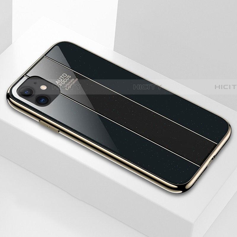 Silikon Schutzhülle Rahmen Tasche Hülle Spiegel T03 für Apple iPhone 11 Schwarz Plus