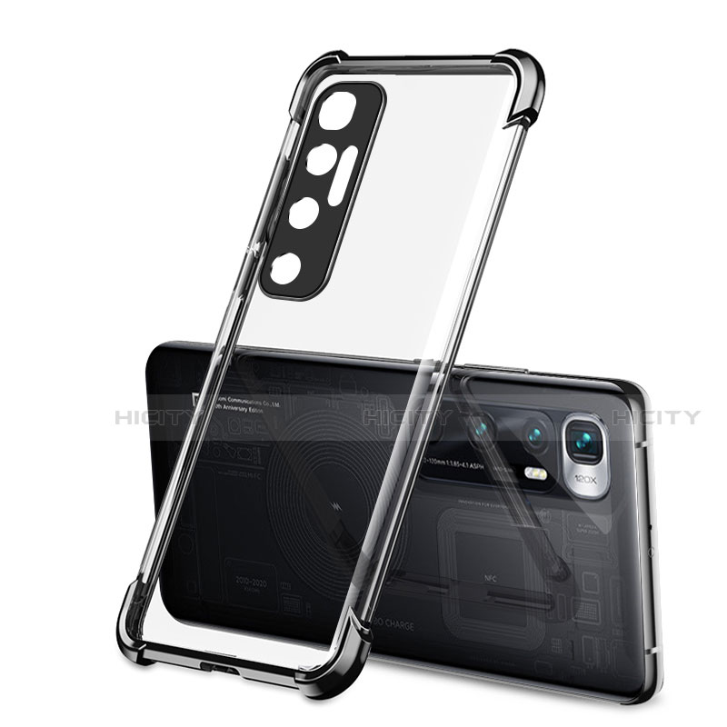 Silikon Schutzhülle Ultra Dünn Flexible Tasche Durchsichtig Transparent H01 für Xiaomi Mi 10 Ultra Schwarz Plus