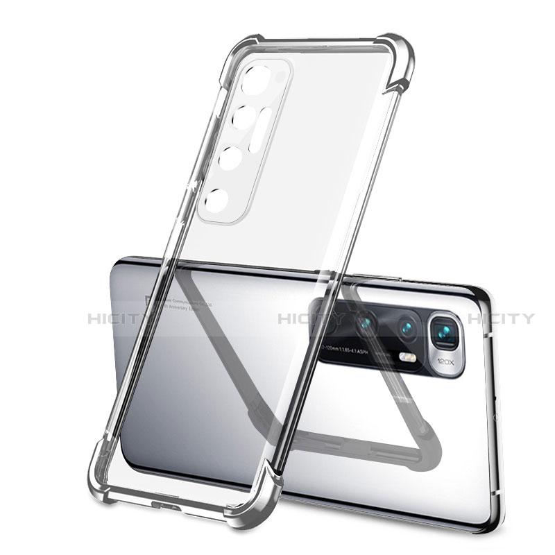 Silikon Schutzhülle Ultra Dünn Flexible Tasche Durchsichtig Transparent H01 für Xiaomi Mi 10 Ultra Silber Plus