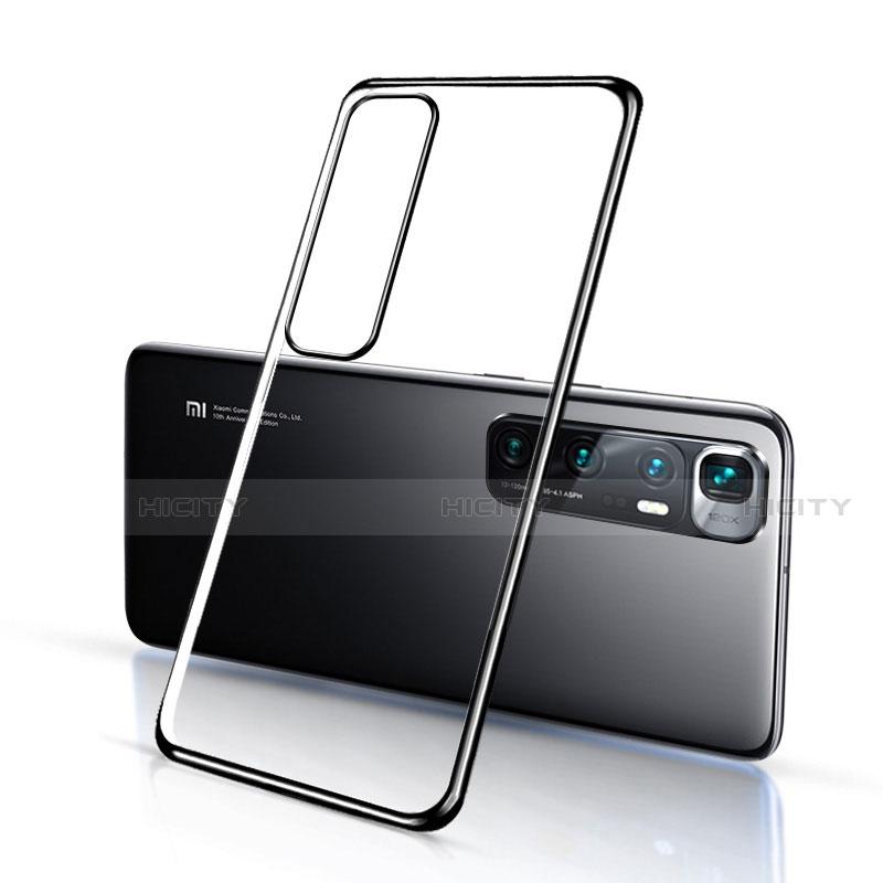Silikon Schutzhülle Ultra Dünn Flexible Tasche Durchsichtig Transparent H03 für Xiaomi Mi 10 Ultra Schwarz